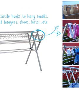 portable clothes airer versatile hooks