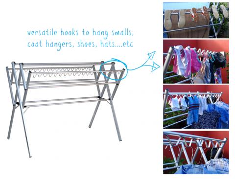 clothes airer versatile hooks