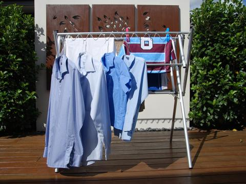 Mini clothes airer drying rack