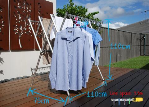 portable lightweight clothes horse, dryer huge capacity