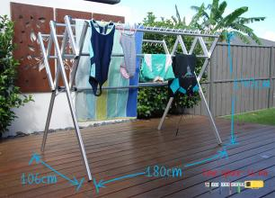 Flexi clothes airer drying rack dimesions