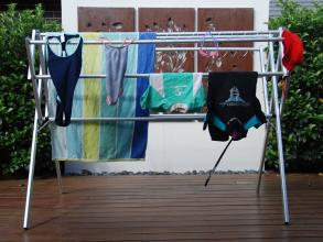 Flexi clothes airer drying rack