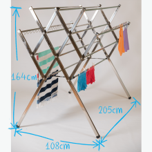 Maxi stainless steel clothes airer drying rack dimesions